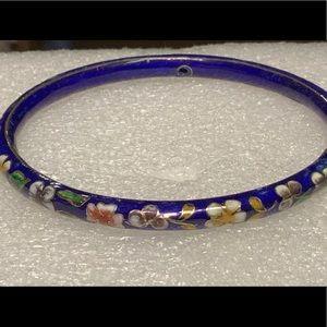 vintage Chinese cloisonne bangle bracelet